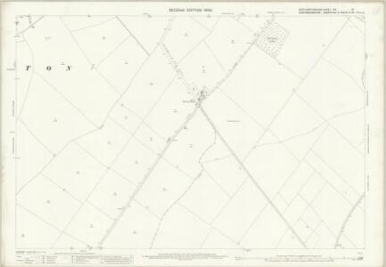 Northamptonshire XIX.16 (includes: Great Gidding; Hemington; Luddington) - 25 Inch Map