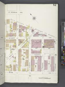 Brooklyn V. 9, Plate No. 52 [Map bounded by St. Nicholas Ave., Madison St., Irving Ave., Linden St.]