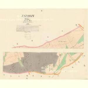 Zaborzy - c9014-1-001 - Kaiserpflichtexemplar der Landkarten des stabilen Katasters