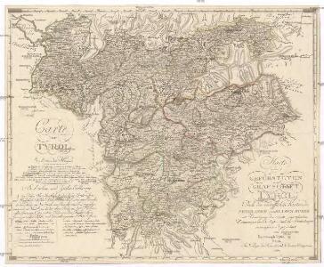 Karte der gefürsteten Grafschaft Tyrol