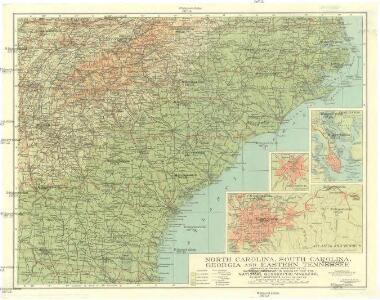 North Carolina, South Carolina, Georgia and eastern Tennessee