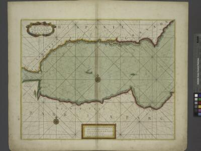 A chart of the sea coast of SPAIN from the Straits mouth to C de Gat and of the sea coast of BARBARY from the Straits mouth to C de Hone