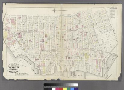 Plate 23: Bounded by Oakland Street, Meserole Street, Eckford Street, Norman Street, 15th Street, (East River) West Street, Commercial Street and Ash Street.