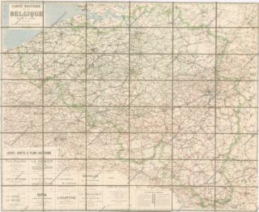 Carte routiere de la Belgique