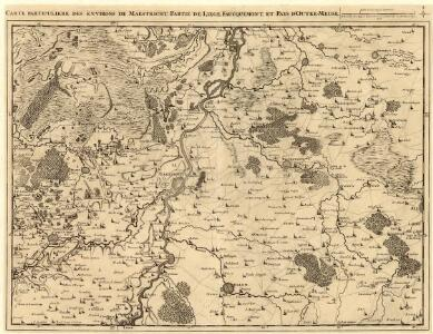 Carte Particuliere des environs de Maestricht Partie de Liege, Faucquemont, et Pays d'Outre-Meuse