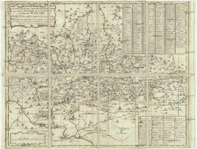 Accurate geographische Delineation derer zu dem Meissnischen Creisse gehörigen AEmmter Stolpen und Radeberg mit Lausiz