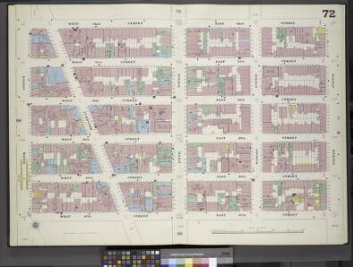 Manhattan, V. 4, Double Page Plate No. 72 [Map bounded by West 32nd St., 4th Ave., East 27th St., 6th Ave.]