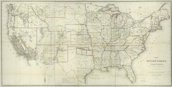 Map of the United States and territories : shewing the extent of public surveys and other details / constructed from the plats and official sources of the General Land Office, under the direction of Hon. Jos. S. Wilson, Commissioner, by Theodore Franks,