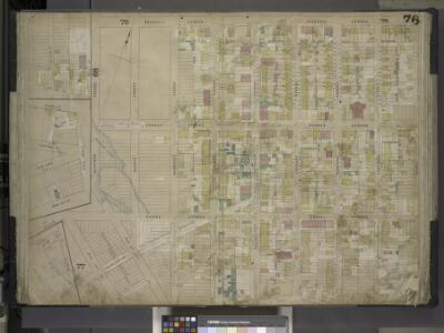 Brooklyn, Vol. 4, Double Page Plate No. 76; [Map      bounded by North 14th St., North 15th St., 5th St., Guernsey St., Lorimer St.,   Van Cott Ave., Oakland St., Newel St., Bancker St., Meserole Ave.; Including     Banker St., 2nd St., Norman Ave., 3