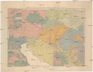 Rakousko-Uhersko, mapa národopisná