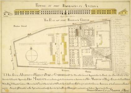 PROFILE OF THE BARRACKS IN ANTIGUA and PLAN OF THE BARRACK GROUND(022KTOP00000123U08500000)