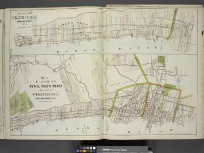 Plan of Grand View, Rockland County, N.Y. ; Plans of  Nyack, South Nyack and part of Piermont, Rockland County, N.Y.