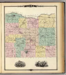 Map of Iowa County, State of Wisconsin.