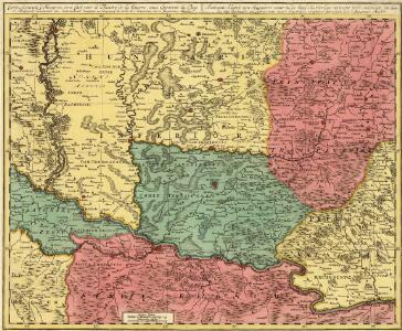Carte Accurate d'Hongrie, ou se fait voir le Theatre de la Guerre, aux Environs les Pays de Belgrade, Temisvar, etc.