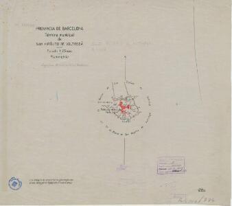Mapa planimètric de Sant Hipòlit de Voltregà