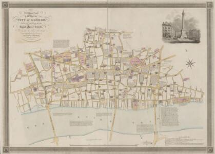 GENERAL PLAN OF THAT PART OF THE CITY OF LONDON THAT WAS DESTROYED BY THE GREAT FIRE OF 1666; SHOWING THE PRESENT STATE THEREOF