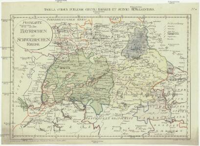 Postkarte von dem Bayrischen und Schwaebischen Kreise