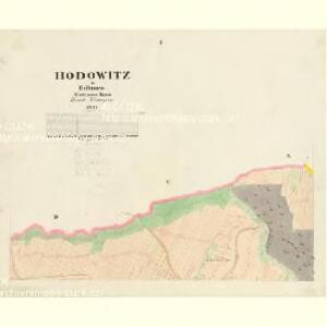 Hodowitz - c1922-1-001 - Kaiserpflichtexemplar der Landkarten des stabilen Katasters