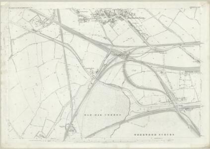 London (First Editions c1850s) XXII (includes: Acton; Hammersmith; Willesden) - 25 Inch Map
