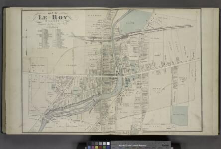 Map of Le Roy Village. [Village]