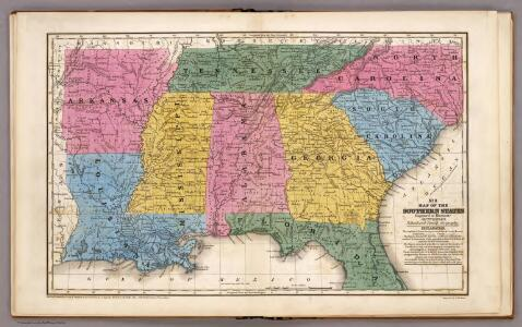 Map of the Southern States.