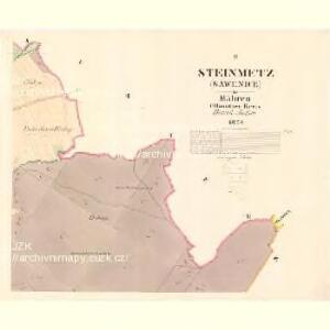 Stein Metz (Savenice) - m2879-1-002 - Kaiserpflichtexemplar der Landkarten des stabilen Katasters