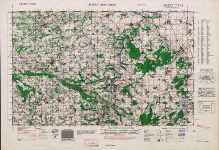 France 1:50,000 , Series GSGS 4250, Aunay-sur-Odon