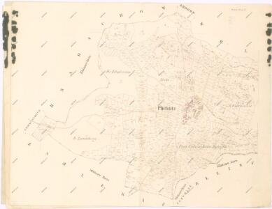 Katastrální mapa obce Plichtice