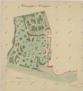 Situační plán třeboňské zámecké zahrady 1
