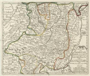 Duché De Modene, de Regio et de Carpi Avec la Seigneurie de la Cafargnana &c