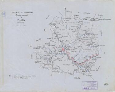 Mapa planimètric de Pratdip