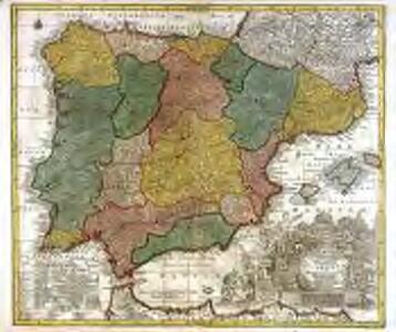 Novissima et accuratissima regnorum Hispaniæ et Portugalliæ mappa geographica