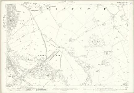 Lancashire LXIV.7 (includes: Burnley; Cliviger; Habergham Eaves; Worsthorne With Hurstwood) - 25 Inch Map