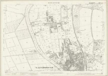 Nottinghamshire VII.8 (includes: Beckingham; Gainsborough; Thonock; Walkeringham) - 25 Inch Map