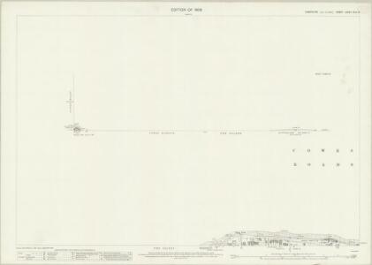 Hampshire and Isle of Wight LXXXII.13 & 14 (includes: Cowes) - 25 Inch Map