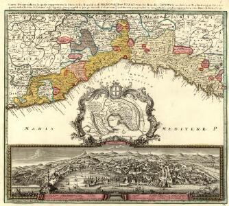 Carta Geographica, la quale rappresenta lo Stato della Republica di Genova partita nella Riviera di Levante et di Ponente
