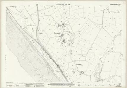 Cumberland LXXVII.8 (includes: Beckermet St Bridget) - 25 Inch Map