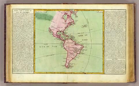 L'Amerique isles, caps, ports.