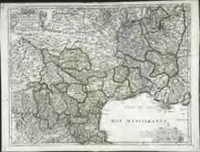 Gouvernem.t gen.ral du Languedoc, divisé en ses vingt deux diocéses