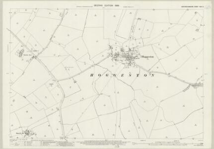 Buckinghamshire XXIII.3 (includes: Dunton; Hoggeston) - 25 Inch Map
