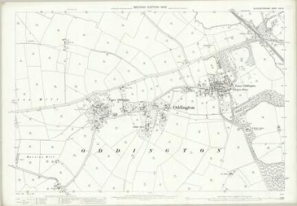 Gloucestershire XXII.15 (includes: Adlestrop; Broadwell; Oddington) - 25 Inch Map