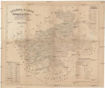Special-Karte des Leitmeritzer Kreis - resp. politisch. Verwaltungsbezirkes