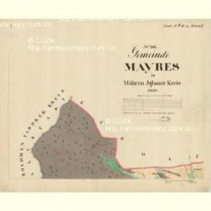 Mayres - m1735-1-001 - Kaiserpflichtexemplar der Landkarten des stabilen Katasters
