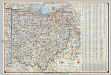 Shell Highway Map of Ohio.