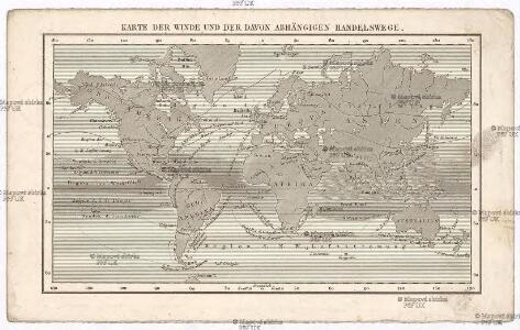 Karte der Winde und der davon abhängigen Handelswege