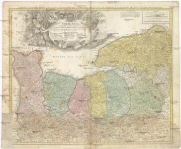 NORMANNIA GALLIAE celebris Provincia in terras suas et Ballifiatus divisa