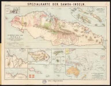 Spezialkarte der Samoa-Inseln