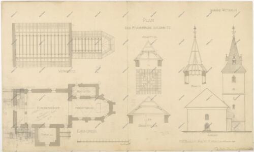 Plán lomnického kostela 1