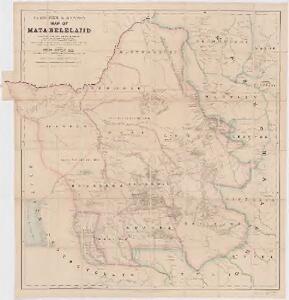 Fletcher & Espin's map of Matabeleland