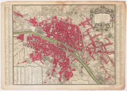 Plan de Paris : divisé en seize quartiers en execution de l'ordonnance du bureau de la ville du 24 Fevrier 1744